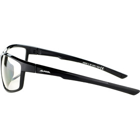 Alpina Defey Glasses black matt/clear mirror